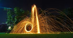 Steel wool light painting Royalty Free Stock Photo