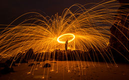 Steel wool photography Stock Photos
