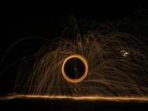 Steel Wool Photography royalty free stock image