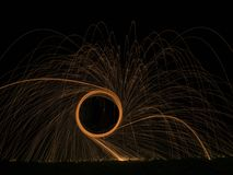 Steel Wool Photography stock photo