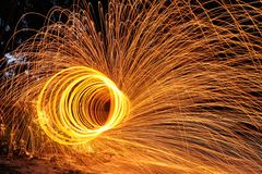Steel wool photography Royalty Free Stock Photo