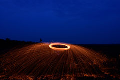 Steel wool photopgraphy Stock Image