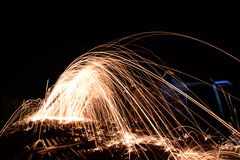 Steel wool photopgraphy Stock Photography