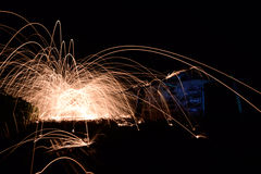 Steel wool photopgraphy Stock Images