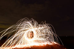 Steel wool photopgraphy Royalty Free Stock Images