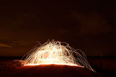 Steel wool photopgraphy Royalty Free Stock Photos
