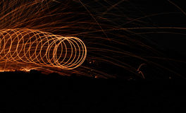Steel wool rings and rays Royalty Free Stock Photo