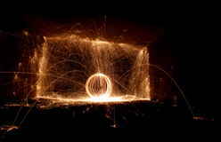 Steel Wool Spin Block Royalty Free Stock Photos
