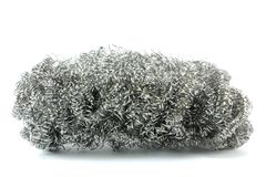 Steel wool. On a white background royalty free stock images