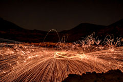 Steel wool under the ground Royalty Free Stock Photography