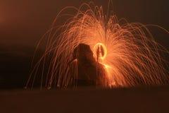 Steel wool. On west cliff. Spinner-Amaya Stock Photos