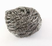 Steel wool on white background royalty free stock images