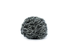 Steel wool on white background Stock Images