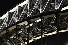 Steel work on Sydney Harbour Bridge. Detail of Steel on Sydney Harbour Bridge at night Royalty Free Stock Photography