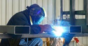 Steel worker welding Stock Photography