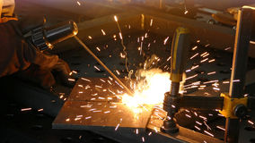 Steel worker welding Royalty Free Stock Photos
