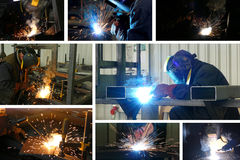 Steel workers welding Stock Photography