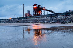 Steel Works Evening Royalty Free Stock Photo
