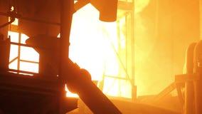 Steel-works stock video