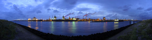 Steel works skyline Stock Images