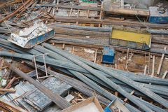 Steel yard in construction site Stock Images