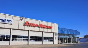 Steele Guiltner Tire Pros, West Memphis, Arkansas. Steele-Guiltner Tire Pros provides quality Tires And Auto Repair And Wheels in Marion, AR And Memphis, TN And Royalty Free Stock Image