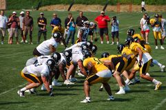 Steeler Practice Royalty Free Stock Photos