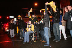 Steelers fans celebrating victory Stock Photo