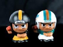 Steelers v ` L игрушки Li дельфинов товарищей по команде стоковое фото rf