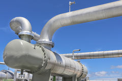 Steell pipe line Stock Image