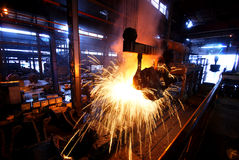 Steelmaking iron works Royalty Free Stock Images