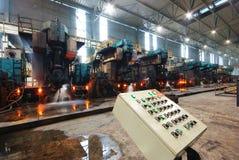 Steelmaking iron works Stock Image