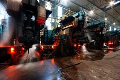 Steelmaking iron works Stock Images
