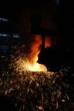 Steelmaking iron works Royalty Free Stock Image