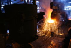 Steelmaking iron works Stock Images