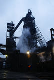 Steelmaking iron works Royalty Free Stock Image