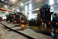 Steelmaking iron works Stock Photos