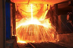 Steelmaking workshop Royalty Free Stock Images