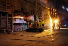 Steelmakingjärnarbeten Royaltyfri Bild