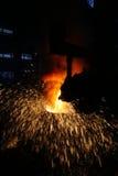 Steelmakingjärnarbeten Royaltyfri Foto