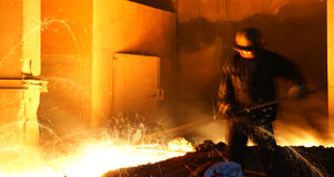 Steelmakingjärnarbeten Royaltyfria Foton