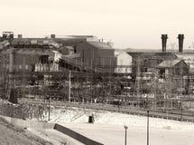 steelmill Vintage-tonificado Fotografia de Stock Royalty Free