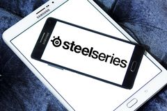 SteelSeries company logo. Logo of SteelSeries company on samsung mobile. steelseries is a Danish manufacturer of gaming peripherals and accessories, including Stock Image
