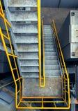 Steelstairs i en växt, industriell zon Royaltyfri Fotografi