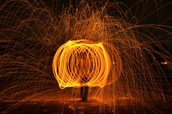 Steelwool Photography Stock Photo