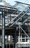 Steelwork. Steel framework of new building on construction site royalty free stock photo