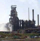 Steelworks blast furnace Port Talbot Wales UK Royalty Free Stock Image