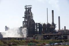 Steelworks blast furnace Port Talbot Wales UK Stock Photos