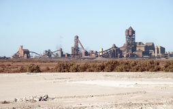 Steelworks fabryczny zewnętrzny Południowa Afryka Zdjęcia Royalty Free