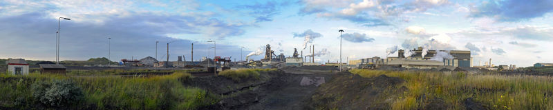Steelworks panorama royalty free stock photos